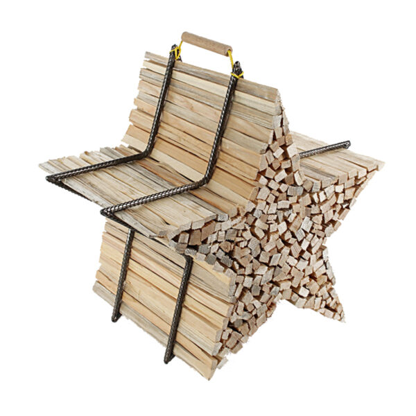 Brennholzhalter Sternform
