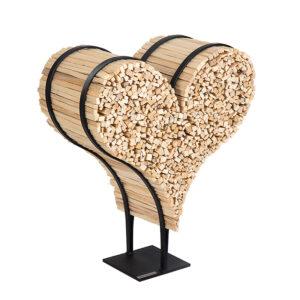 Brennholzhalter Herzform