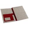 Schreibmappe aus Filz in roter Farbe